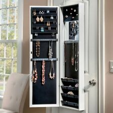 Mirror Jewelry Armoire Door Wall Mount Full Length Hanging Storage Box Case