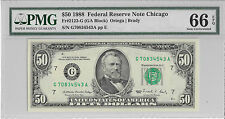 1988 $50 Federal Reserve Note FR-2123-G Chicago PMG 66