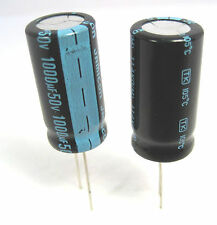 1000uF 50V Radial Lead Electrolytic Capacitors: Small Size: 2/Pack: Great Price
