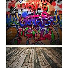 Graffiti Brick Wall Photography Background Photo Backdrop For Studio Prop 5X7FT