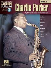 Saxophone PlayAlong Charlie Parker Learn to Play SAX Music Book & Online Audio