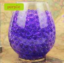 NEW 600pcs Purple Crystal Soil Gel Jelly Ball Water Pearls Wedding Home Decor S1