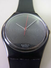 GB109 Swatch - 1986 Soto Classic Authentic Black Artistic Swiss Made