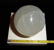 DINO: Awesome SELENITE Sphere - 289 gr. - Morocco - Excellent Display Piece