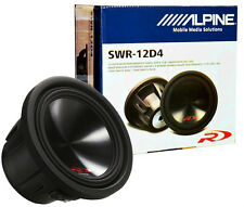 "Alpine SWR-12D4 12"" Car Audio Subwoofer/ 12-Inch Car Type R Subwoofer 3000Watts"