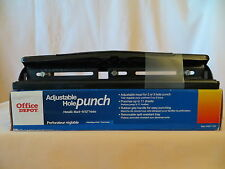 Office Depot Brand 3-Hole Adjustable Punch Spill-Proof Removable Tray