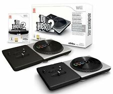 Wii DJ HERO 2 Turntable Party Bundle Game Set kit Nintendo daft punk lady gaga