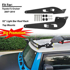 "Fit Toyota FJ CRUISER 07-14 52"" 500W Straight Curved LED Work Light Bar Brackets"