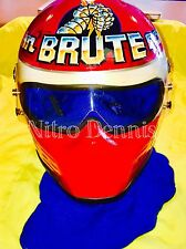 NHRA John BRUTE Force RACE WORN HELMET Funny Car NITRO Rare DRAG RACING Signed