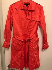 Dkny Trench Coat Orange XS Extra-small