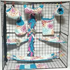 Alison Burst * 15 PC Sugar Glider Cage set * Rat * double layer Fleece
