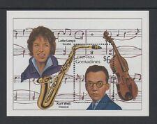 Grenada GRENADINES 1989 musicisti min foglio * Nuovo di zecca never hinged *
