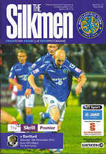 2013/14 MACCLESFIELD TOWN V DARTFORD 16-11-2013 Skrill Premier (Mint)