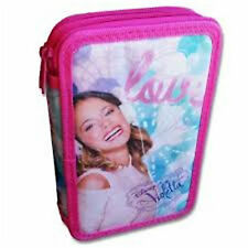 """Disney VIOLETTA """"LOVE MUSIC"""" - Double Pencil Case with Accessories / Stationery"""