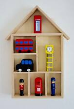 WOODEN House Scaffale Display Storage Decorativo Bambini Camera Da Letto DECOUPAGE