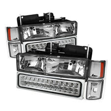 94-98 Chevy C/K Pickup Truck Tahoe Suburban LED Headlights Bumper Corner Lights