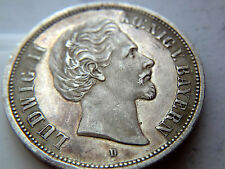 Germany States Bavaria 5 Silver Mark 1876 D Ludwig II ! Almost UNC PROOF LIKE !