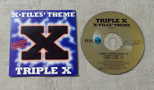 "CD AUDIO INT / TRIPLE X ""X-FILES' THEME"" 1996 CDS 3T FULL ACE MUSIC FAM 30363-1"