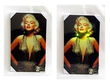 NEW MARILYN MONROE ILLUMINATION WALL ART DECO CANVAS PICTURE