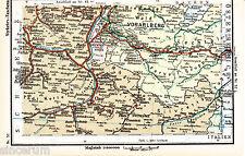 Vorarlberg Liechtenstein 1927 Eisenbahnkarte Feldkirch Bludenz Schruns Hopfreben