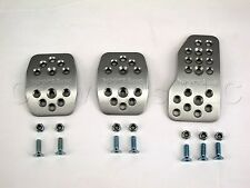 Sport Line Manual Transmission Rally Pedal Kit - Silver Aluminum with Holes