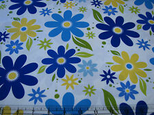 3  Yards Quilt Cotton Fabric - ITB Jason Yenter Modern Blooms Large Blue