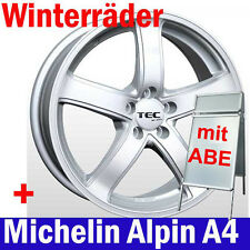 "16"" Winterräder TEC AS1 + 205/60 Michelin Winterreifen Audi Mercedes Skoda VW"