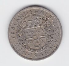 1948 New Zealand NZ Half Crown Coin   B-587