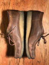Clarks Originals Wallabee Mens Size 10 M Brown Beeswax Leather Boots Shoes