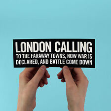 "The Clash lyric Sticker! ""London Calling"" joe strummer punk 1970s uk sex pistols"