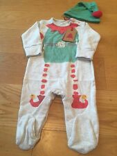Next Baby Boy Christmas Sleepsuits 6-9 Months BNWT - Next Baby Elf Xmas