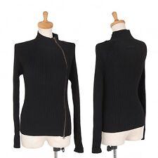 Jean Paul GAULTIER FEMME Zip-up rib knit cardigan Size 40(K-32250)