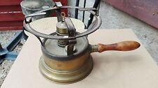 """RECHAUD feutré brûlant à alcool """"L'HIRONDELLE N° 1"""", en cuivre ou laiton, XIXème"""