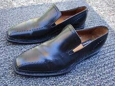 Ultra Elite & Magnificent MORESCHI Tirolese Hand Made Italian BlackLoafer Size 9