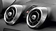 GENUINE AUDI A1 DAYTONA GREY 4 PIECE ACCESSORY DASHBOARD AIR VENT TRIM COVERS