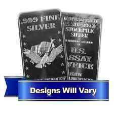 (2) 10 Troy oz. Hallmarked Silver Bar .999 Fine Secondary Market