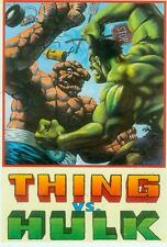 Marvel Comics Postcard: Thing vs. Hulk (Matt Wagner) (USA, 1992)