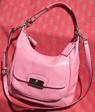 Coach KRISTIN Rose Pink Leather Crossbody Hobo F22306