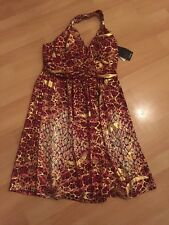 Women's Hauteur Neck Dress Size L Bin 101 12/14