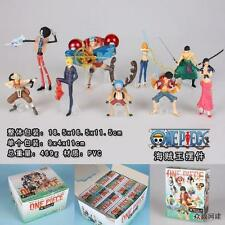ONE PIECE GASHAPON FIGURE 11 CM SET ACE LUFFY RUFY SANJI BROOKE NAMI CHOPPER #1