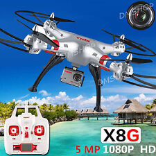 Syma X8G RC Quadcopter Drone 2.4Ghz 6-Axis RTF Helicopter with 6MP HD 9Camera