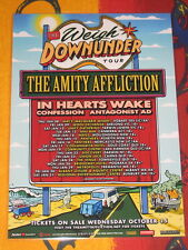 THE AMITY AFFLICTION - 2015 AUSTRALIAN TOUR  -  PROMO TOUR POSTER