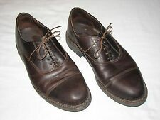 Dexter Men's US 10.5 2W Brown leather Cap Toe Oxford lace-up shoes Made in USA