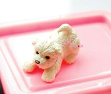 PET White Puppy Dog Cute 1/12 Dollhouse Miniature Animal PD67