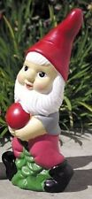 """Garden Gnome,  12"""" Tall, Hand Painted Carrying a Radish"""