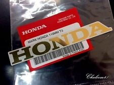 HONDA GENUINE 100%  MARK 110 mm Gold - Silver STICKER DECAL STICKER LOGO BADGE