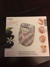 CLEAN Emjoi eRase e60 Epilator w/ Case and instructions IN BOX PINK AND GRAY