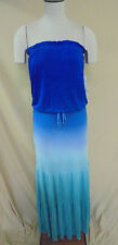 Young Fabulous & Broke Women's Strapless Tressa Ombre Maxi Dress Blue HM7 Small