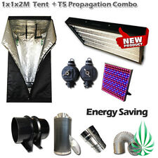 Hydroponics 1x1x2m Grow Tent With T5 Propagation Light And LED Light Combo
