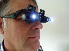 Hands free head magnifying glass magnifier LED lights 10x 15x 20x 25x
